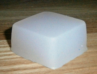 "Square 1.5"" Silicone Small Foot/Pad Selectable Height & Density"