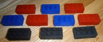 Silicone Lego Style Isolator Foot/Pad Non-Skid Insulator Large