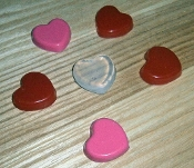 Silicone Hearts Style Isolator Foot/Pad Insulator Small